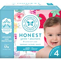 The Honest Company Club Box - Size 4 - Rose Blossom & Strawberries Print with TrueAbsorb...