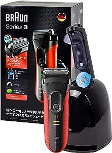 Braun Series 3 ProSkin 3050cc (versión japonesa) afeitadora eléctrica de láminas para hombre/afeitadora eléctrica recargable, y estación de carga y limpieza – negro/rojo: Amazon.es: Belleza