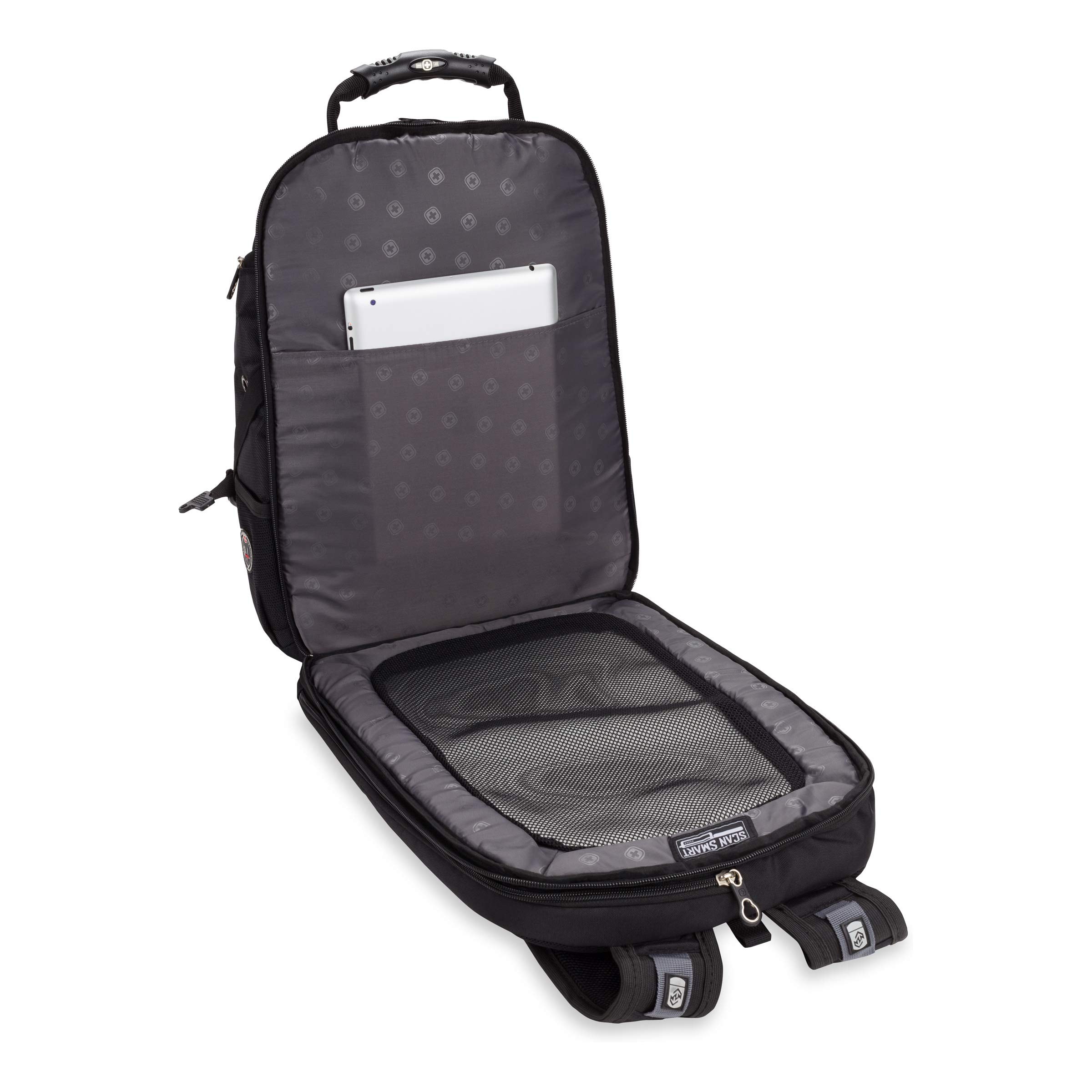 9099b6c5a8e2 Swiss Gear SA1923 Black TSA Friendly ScanSmart Laptop Backpack - Fits Most  15 Inch Laptops and Tablets