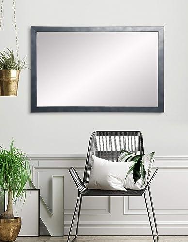 BrandtWorks AZ-AV84LARGE Accent Mirror, 28.5 x 35, Gunmetal Black