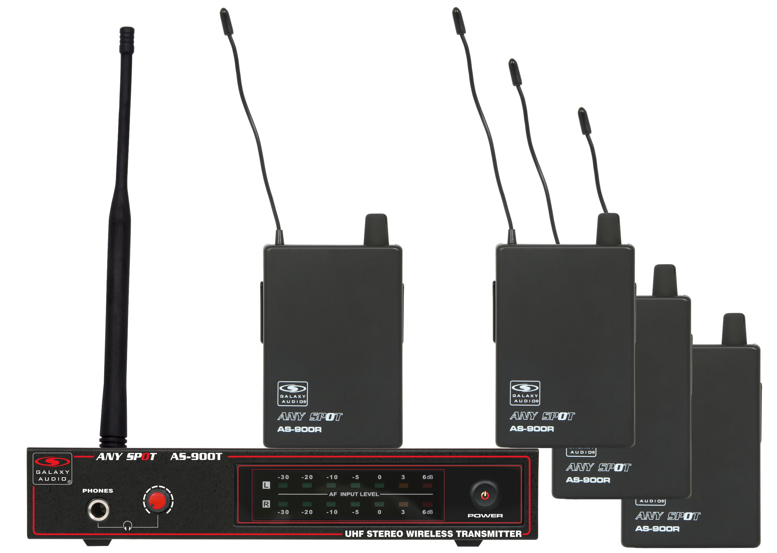 Galaxy Audio AS-900-4 Band Pack Wireless In-Ear Monitor System, Code N4 (521.85 MHz)