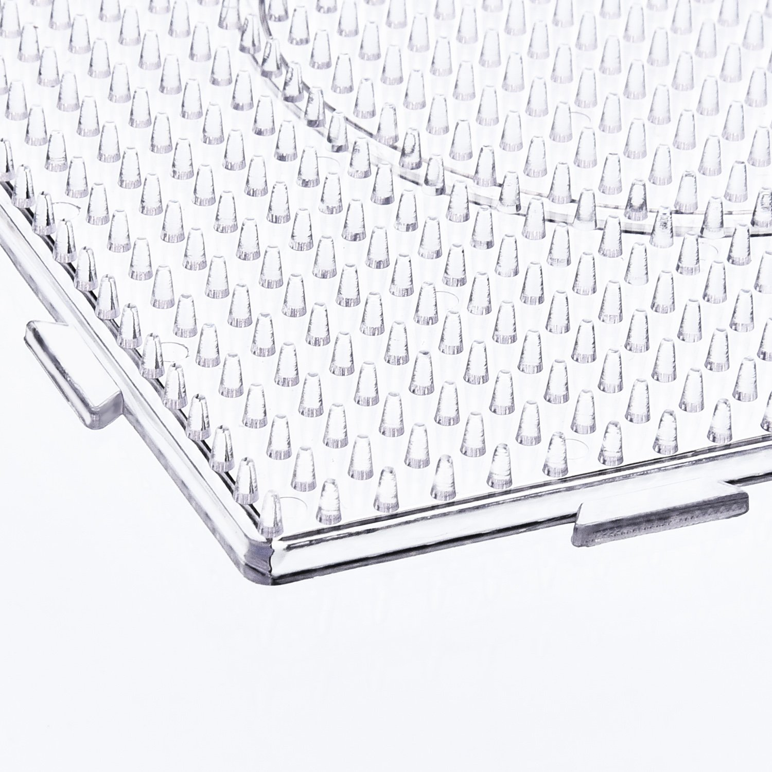 6 Pieces Maxdot 5 mm Large Square Fuse Beads Boards Clear Plastic Pegboards for Kids Craft Beads