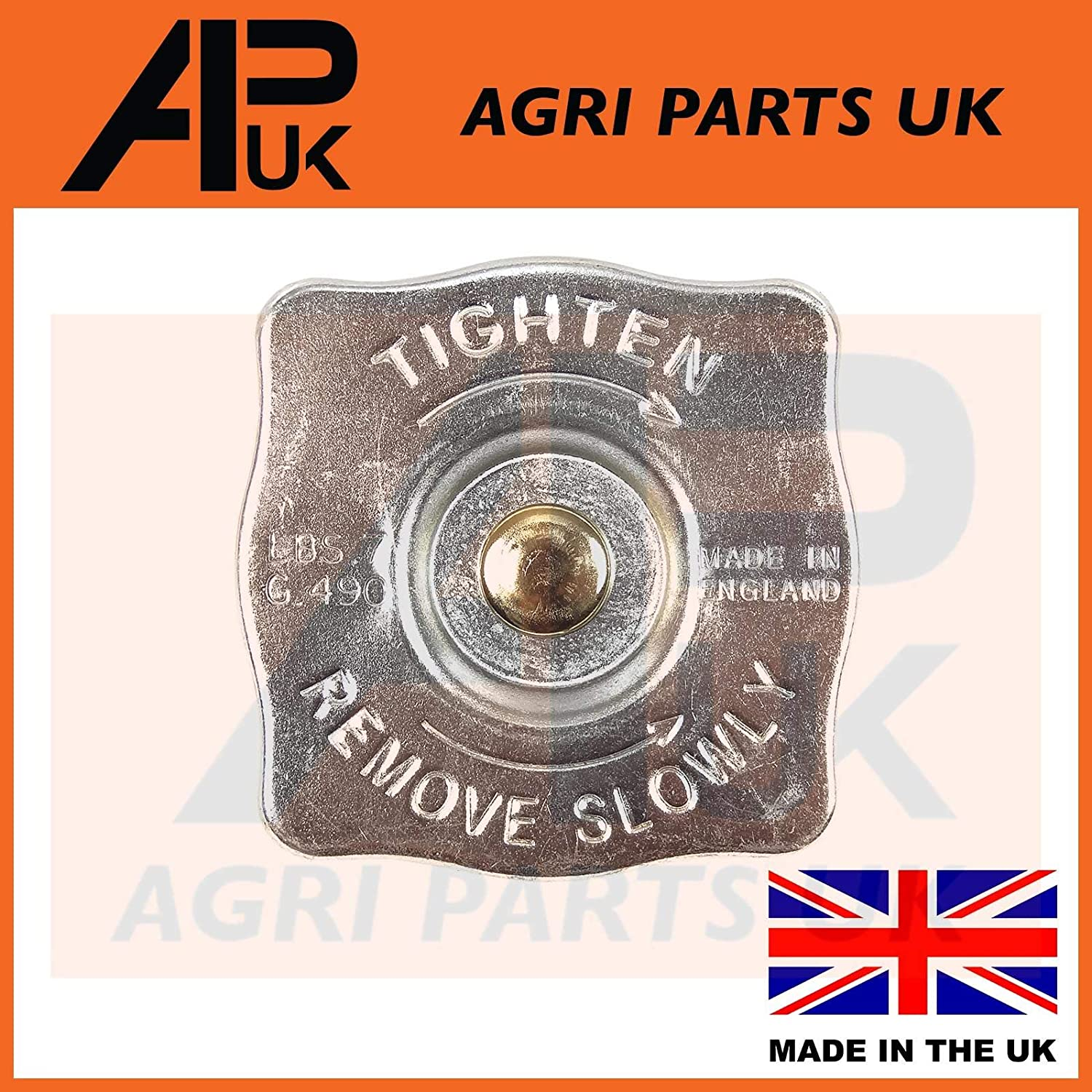 APUK Square Radiator Cap Compatible with Ford 2000 3000 4000 4600 5000 5610 6610 7610 TW Tractor