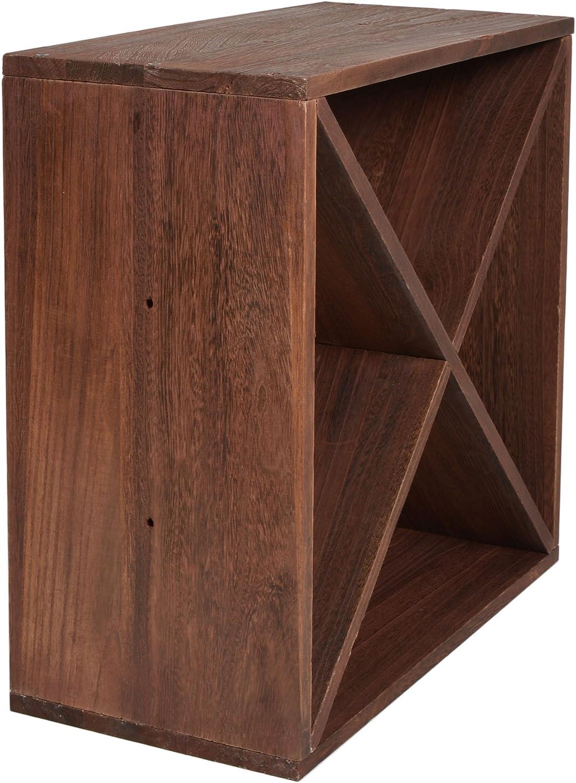 impilabile colore: marrone scuro Legno ts-ideen scaffalatura cubica per bottiglie di vino Dunkelbraun Weinregal 3er
