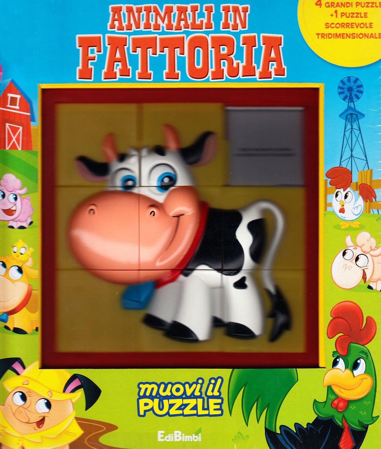 Animali in fattoria. Libro puzzle Copertina rigida – 1 gen 2010 Edibimbi 8855606190 LETTERATURA PER RAGAZZI Libri puzzle