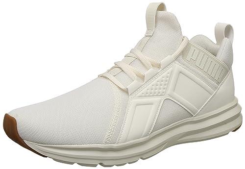 Puma Men s Enzo Premium Mesh Whisper White Running Shoes-12 UK India ... 1dab6afe5