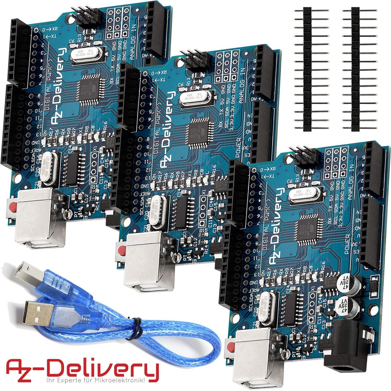 AZDelivery Placa de desarrollo microcontrolador con cable ...