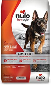 Nulo Puppy & Adult Freestyle Limited Plus Grain Free Dry Dog Food: All Natural Limited Ingredient Diet for Digestive & Immune Health - Allergy Sensitive(Turkey Recipe - 22 lb Bag), (Model: 51LT22)