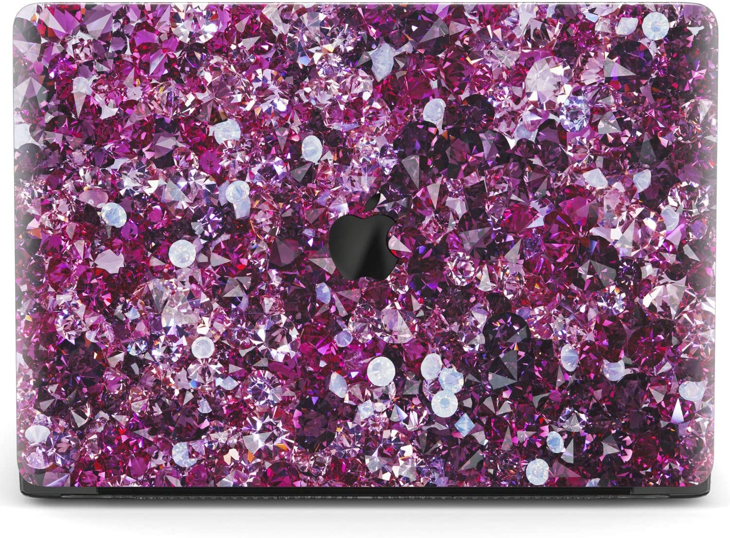 Mertak Hard Case for Apple MacBook Pro 16 Air 13 inch Mac 15 Retina 12 11 2020 2019 2018 2017 Jewelry Crystal Protective Touch Bar Texture Laptop Clear Cover Gemstones Amethyst Purple Design Print