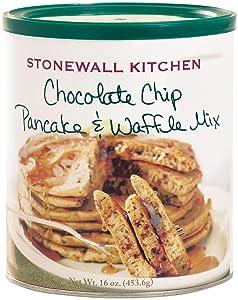 Stonewall Kitchen Chocolate Chip Pancake and Waffle Mix, 16 Ounce Can