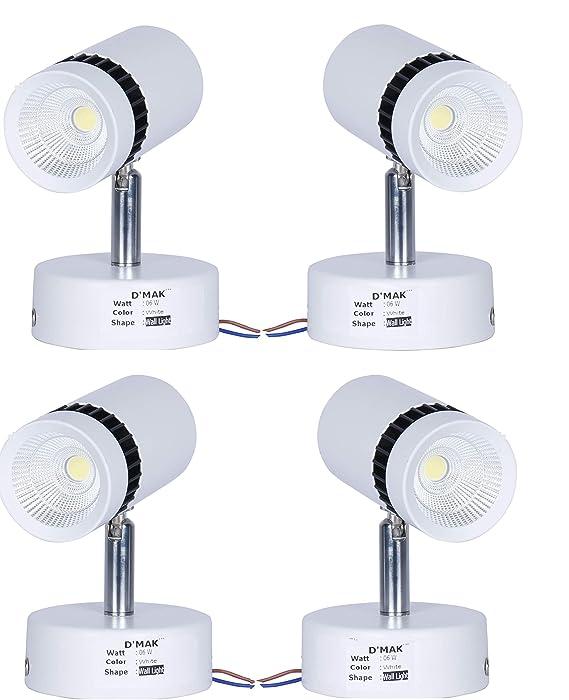 Happy Selling Brings White 6 Watt White Adjustable 180° LED Cob Spotting Wall Track Light (Cob Focus/Decorative Spot Light)   Track Light     led spot Track Light     Focus Track Light   {Set -04}