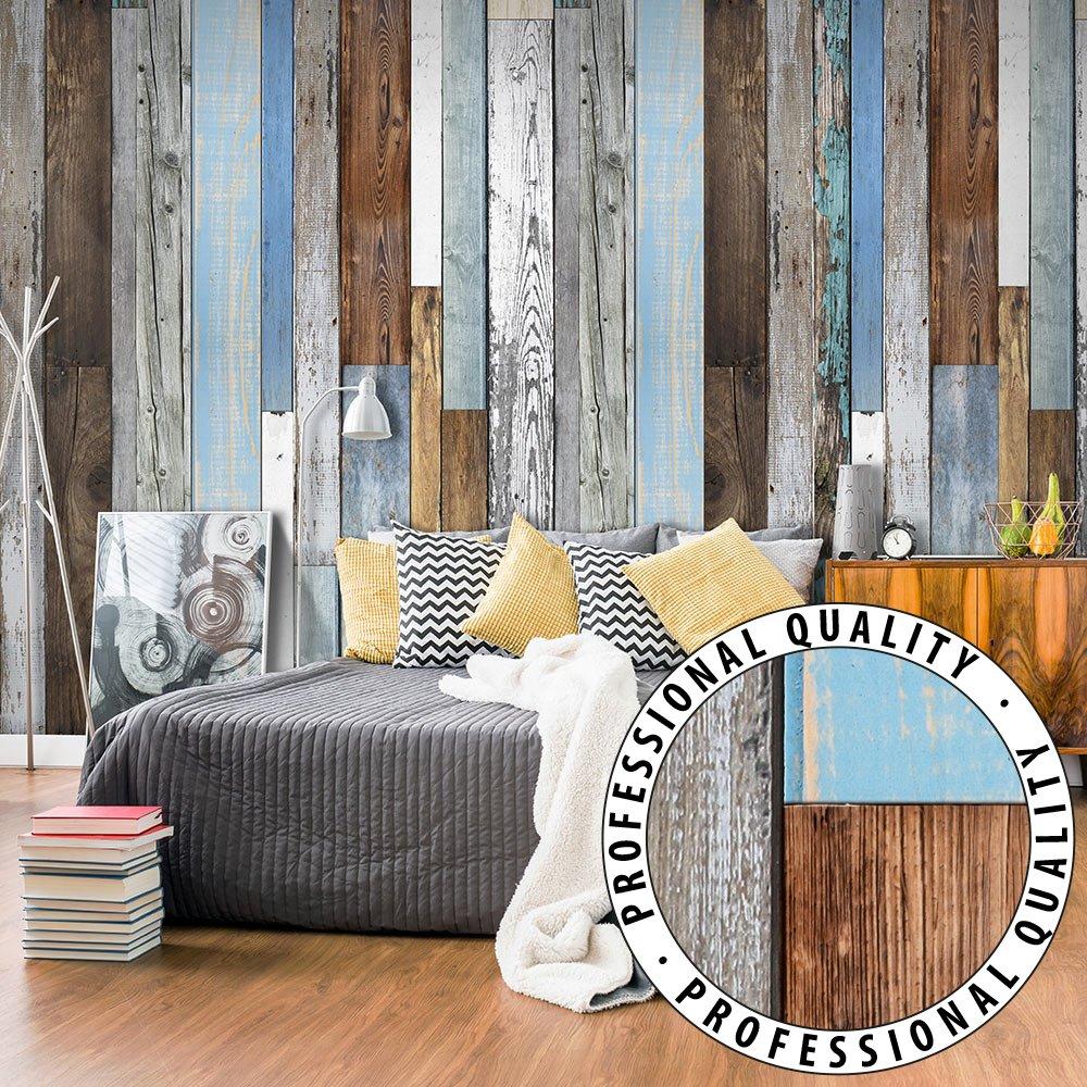 Tele moderne camera da letto for Carta parati effetto legno