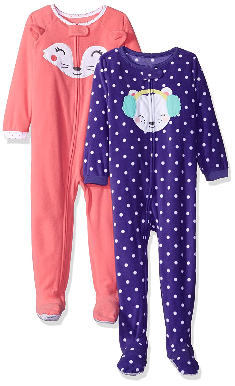 c96b00e0fb8f Amazon.com  Carter s Baby Girls  2-Pack Fleece Pajama Set  Clothing