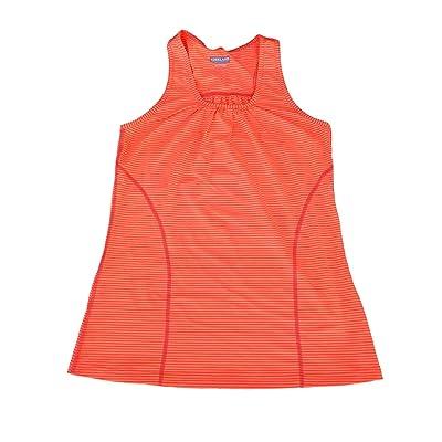 Womens Active Sports Top Kirkland Exercise Running Workout Black Navy Orange