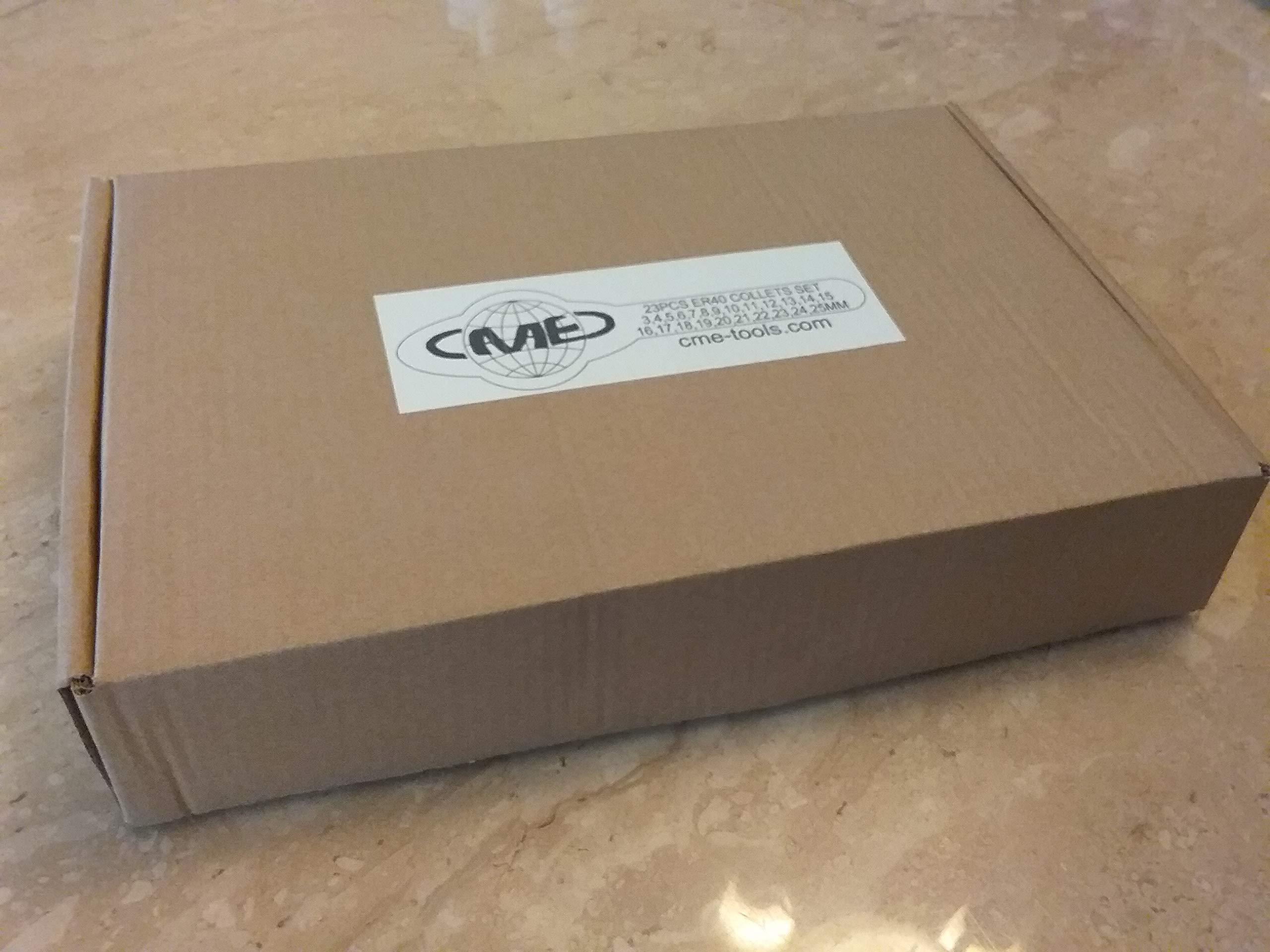 23pcs ER40 Metric Collet Set, collets 4mm - 26mm, 0.008mm TIR #ER40-SET23M-NEW by CME (Image #3)
