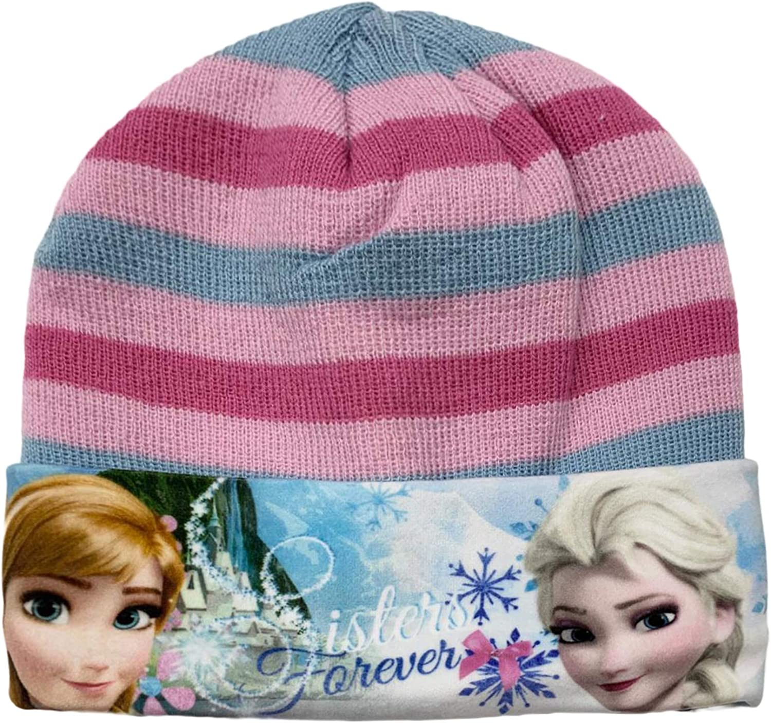 Girls Disney Frozen Peruvian Winter Hat Pink-54 cm