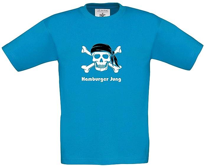 Fun Shirt Sprüche Kids   Pirat Hamburgshirt   Schriftzug Hamburger Jung  Jungen T Shirt Karneval