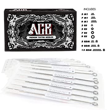 af4f7692a56c1 Amazon.com: ACE Needles 50 Mixed Assorted Tattoo Needles 10 Sizes ...