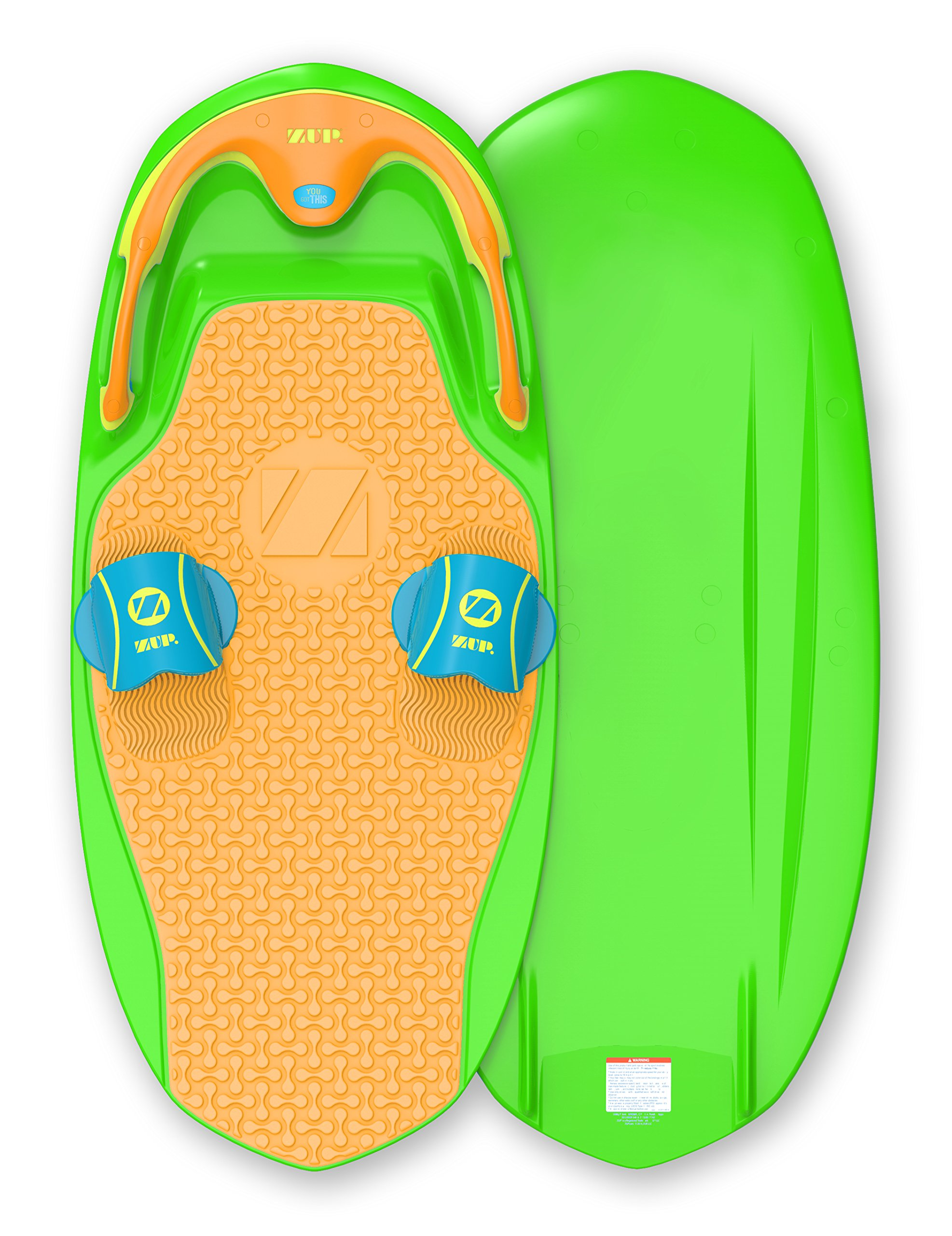 ZUP You Got This 2.0 Board, All-in-One Kneeboard, Wakeboard, Wakeskate, and Wakesurf Board for All Ages, Lime by ZUP