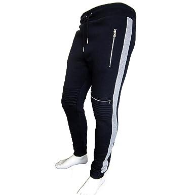2083131c5e G8ONE New Men's Zipped Biker Joggers Slim Fit Track Sweat Pants ...