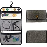 Newport Design Universal Guitar Accessory Organizer, Foldable Felt Case for Travel, Hangable with Easy Access Pockets and Pic