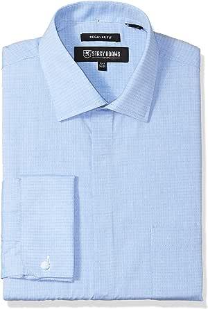Stacy Adams Hombre ST80009 Cuello Tipo Italiano Manga Larga Camisa de Vestir: Amazon.es: Ropa y accesorios