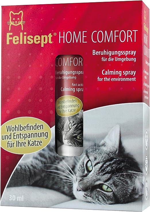 Quiko 250805 felisept Home Comfort beruhigung Spray/Entorno Spray con pflanzlichem beruhigung Medio & Natural Gato Menta para Gatos/Aumenta Bienestar & Relajación, 30 ml: Amazon.es: Productos para mascotas