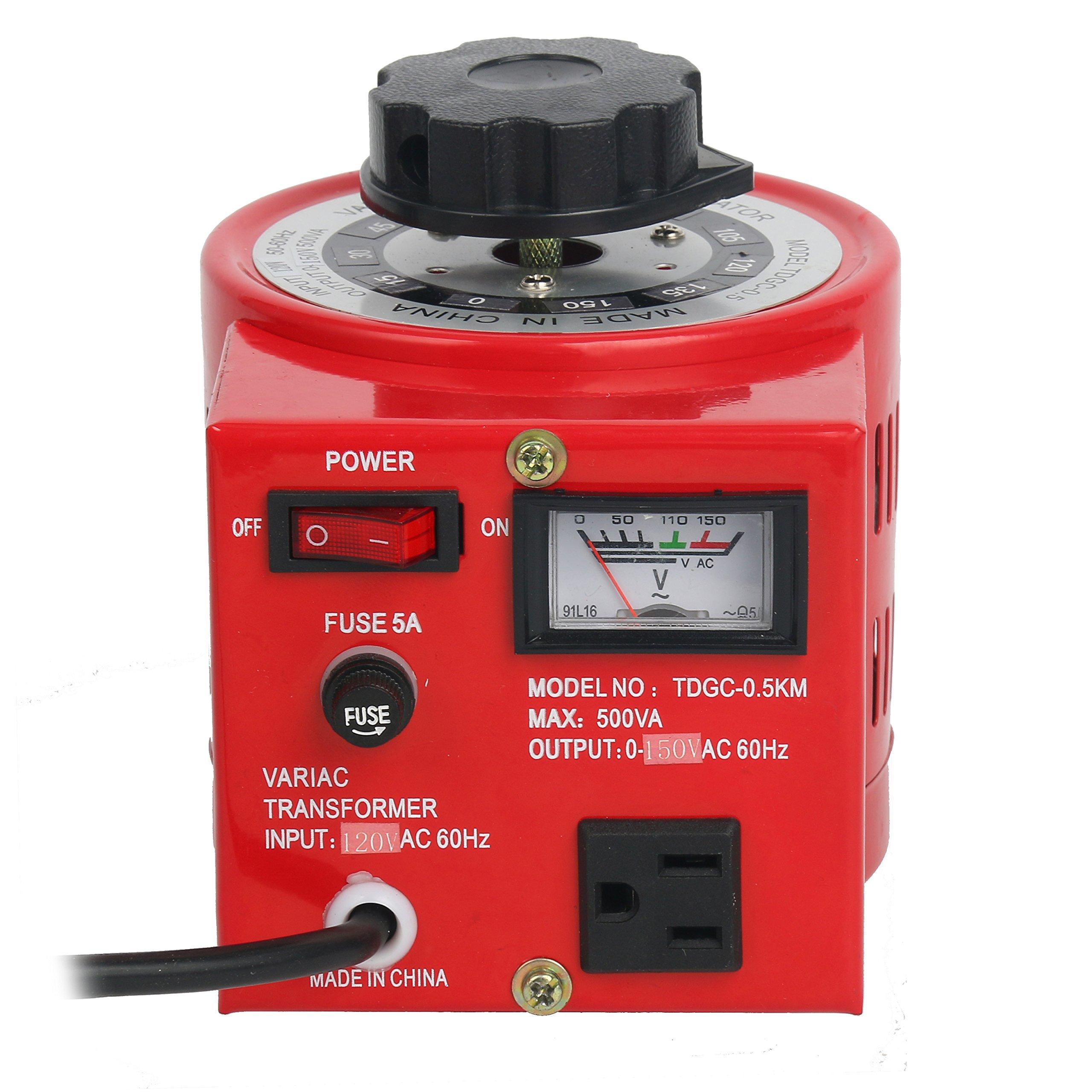 Metered Variac Variable 500W Transformer Auto Regulator 500VA