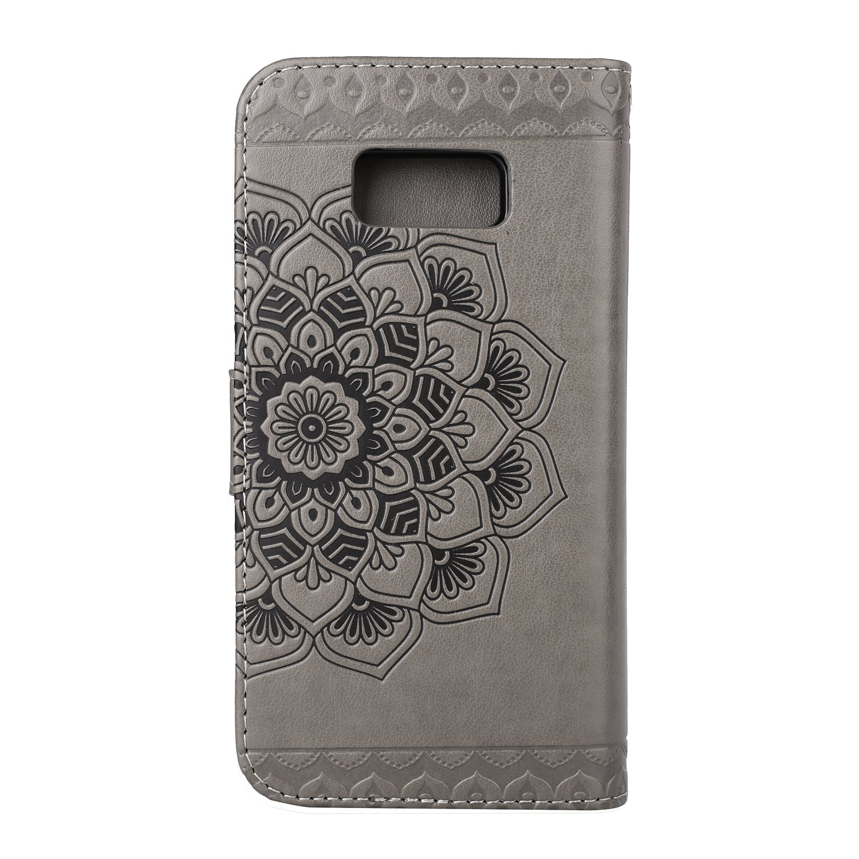 Flip Book Stil gepr/ägt Wallet Case Premium PU Leder Bezug Abnehmbar S8/Fall Grau Weiche TPU Interior Magnetic Shell mit Staub Plug /& Stylus /& Displayschutzfolie f/ür Samsung Galaxy S8/von badalink