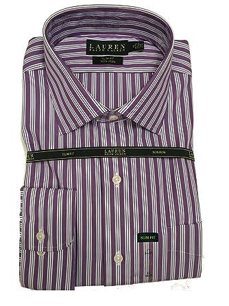 c6936402bba LAUREN Ralph Lauren Men s Poplin Slim-Fit Non-Iron Dress Shirt (17 quot