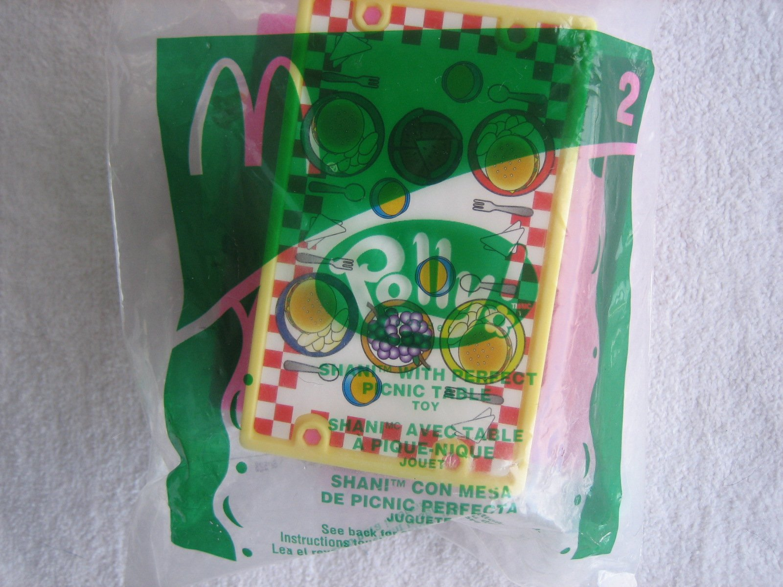 McDonalds Happy Meal 2003 Polly Pocket #2 Shani with Perfect Picnic Table