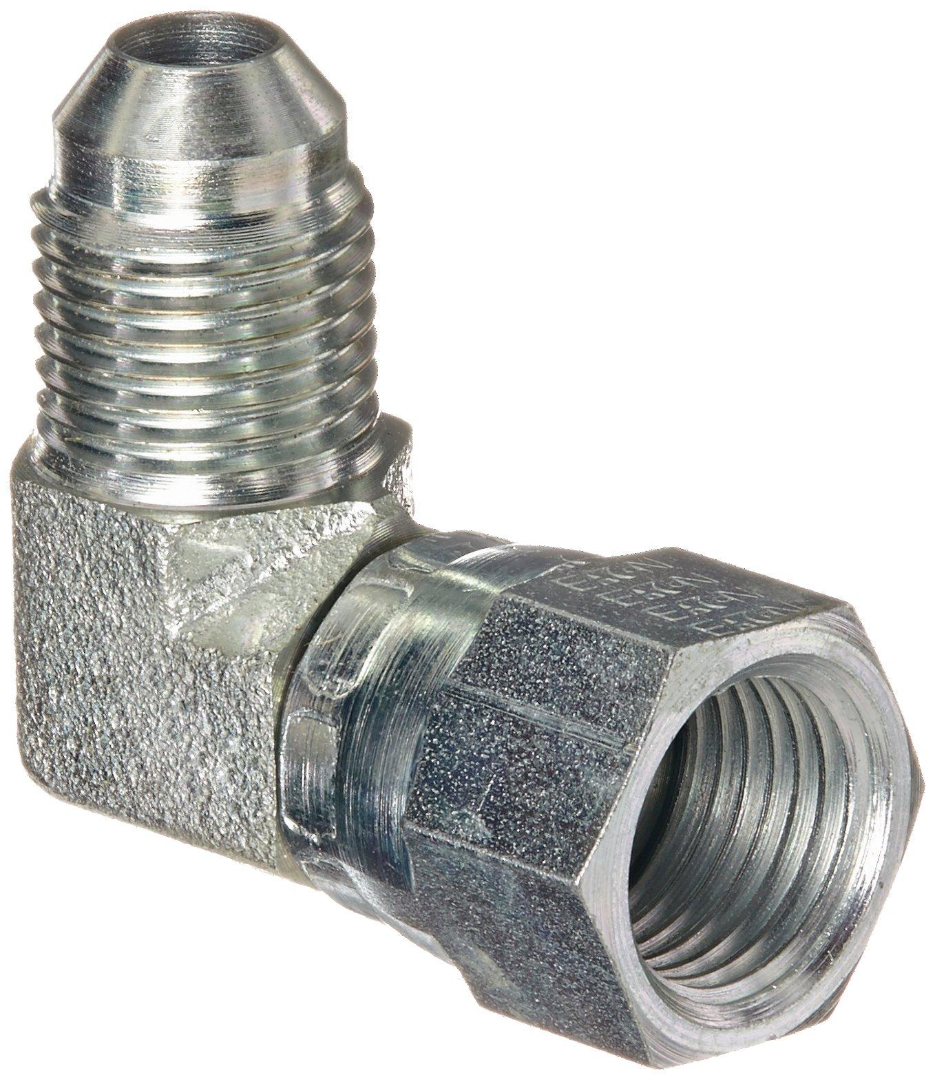 Eaton Aeroquip 2071-5-5S 90 Degree Swivel Nut Elbow, JIC 37 Degree End Types, Carbon Steel, 5/16 JIC(f) x 5/16 JIC(m) End Size, 5/16'' Tube OD