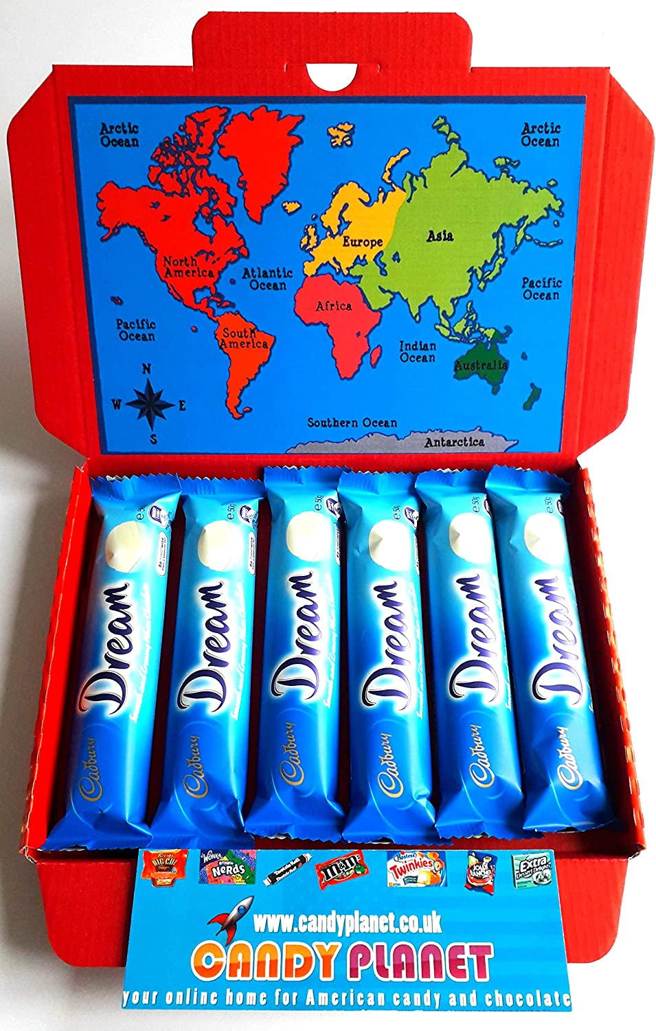 Cadbury Dream White Chocolate Bar 50g X6 Retro Rare Uk Sweets Australian Chocolate Lolly Candy Sweets Hamper Exclusive To Candyplanet