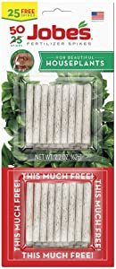 Jobes 5001T Houseplant Plant Food Spikes 13-4-5 50 Pack,Multicolor