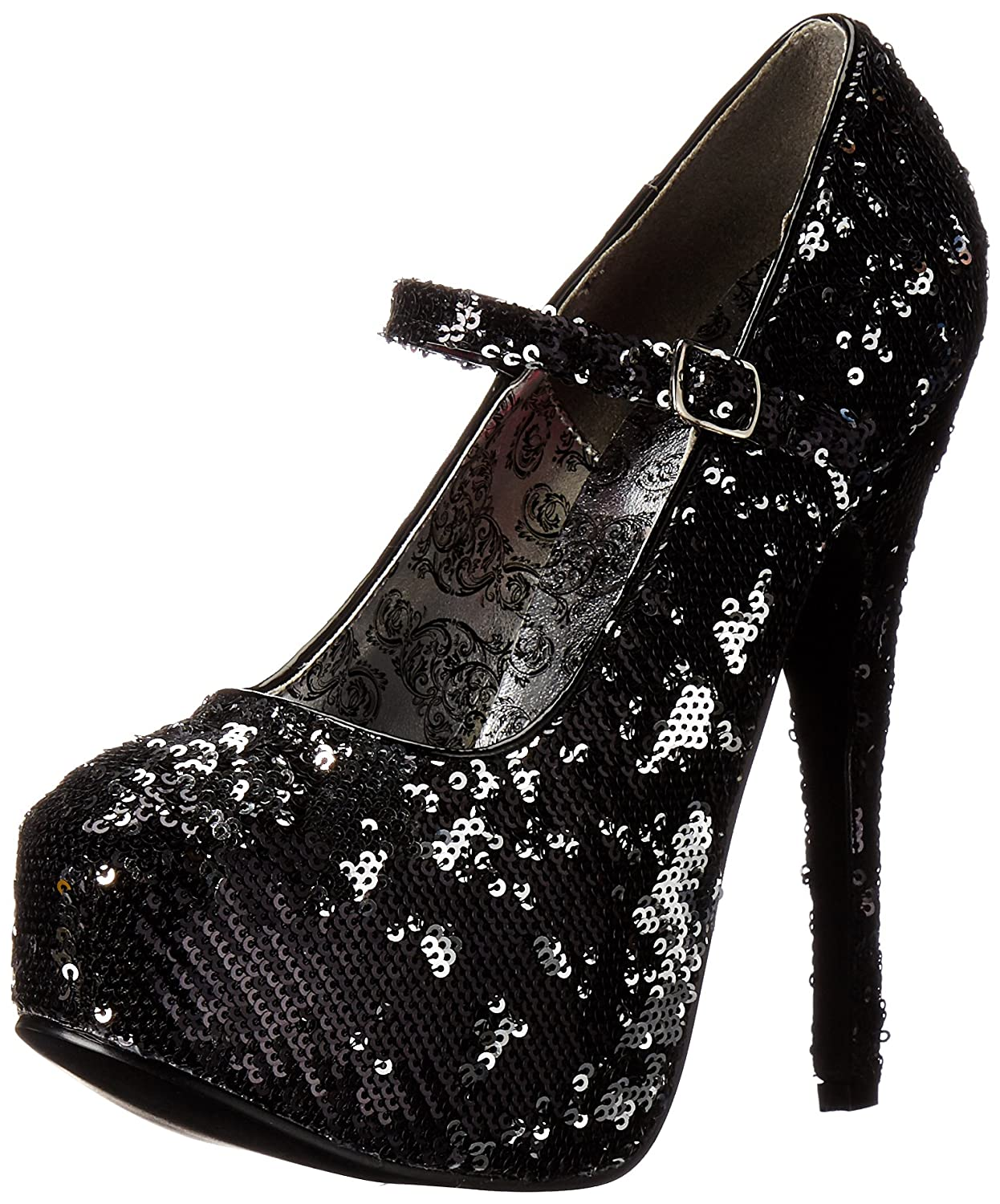 Bordello TEEZE-07SQ Blk-SLV Sequins 36) UK 3 (EU 36) Sequins - 7510d2
