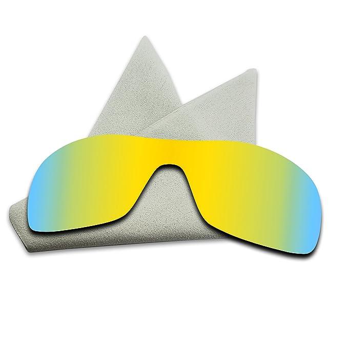 e8b0ea2d523e 24K Golden Mirrored Polarized Lenses Replacement for Oakley Antix Sunglasses