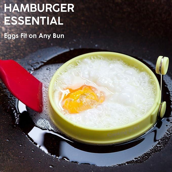 Amazon.com: Juego de anillos de silicona para huevos con ...