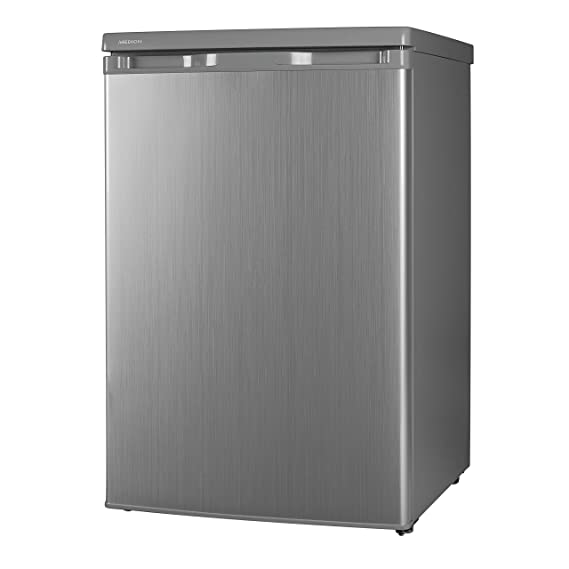 MEDION Kühlschrank (130 Liter, 85cm Höhe, Glasablagen, Gemüseschublade,  Freistehend, 91 KWh/Jahr, MD 13854) Silber: Amazon.de: Elektro Großgeräte