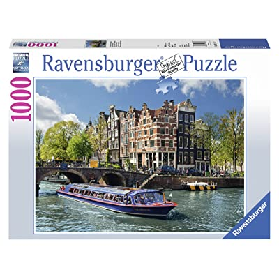 Ravensburger Canal Tour in Amsterdam Jigsaw Puzzle (1000 Piece): Toys & Games