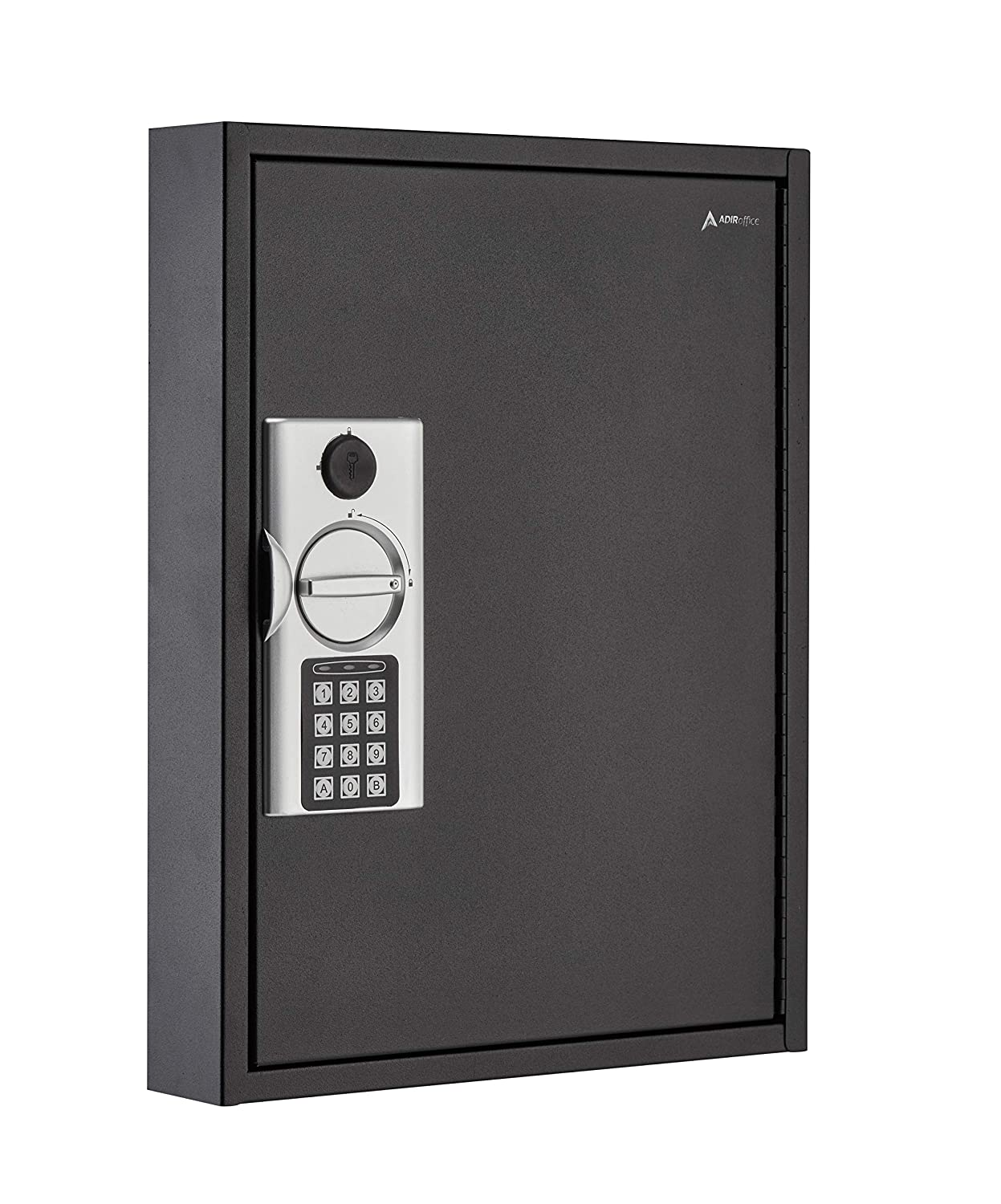 AdirOffice 60 Hooks Key Cabinet with Digital Lock - Heavy Duty Secured Storage, Steel- Ideal for Homes Hotels Schools & Businesses (Black)