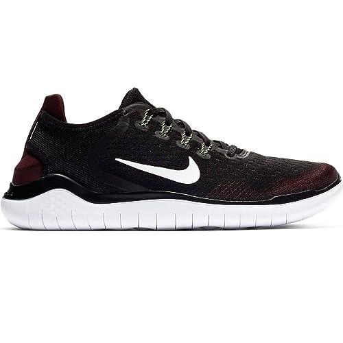 Amazon.com | Nike Men's Free RN 2018 Night Maroon/Black/Lime ...