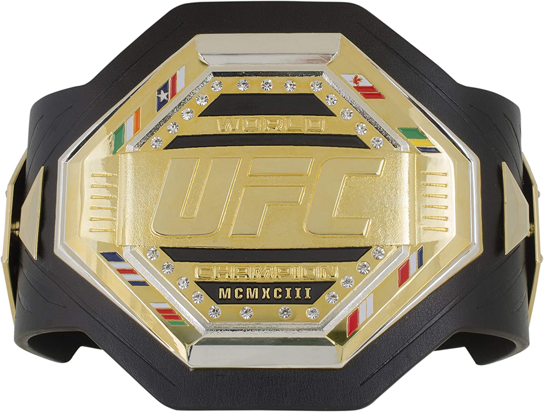 UFC Mens Legacy Belt Desktop Plaque One Size Black//Gold//Silver