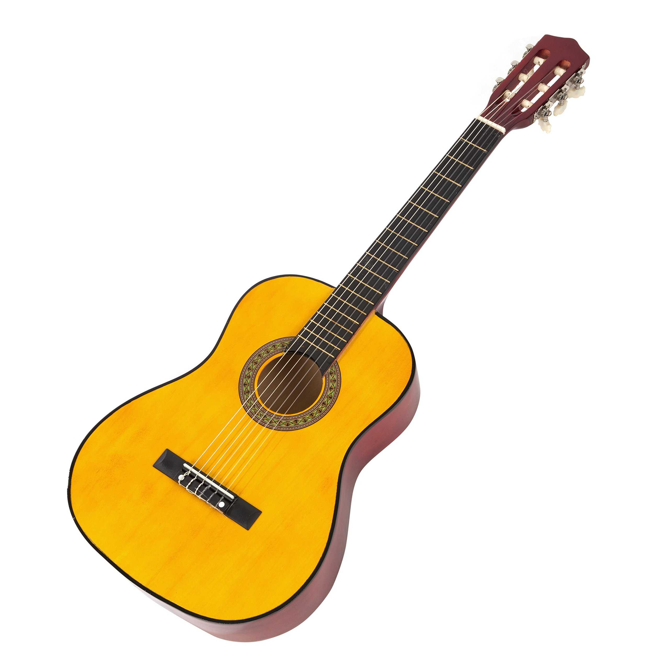 Music Alley 6 String Junior Guitar, Right Handed, Natural (MA34-N) by Music Alley