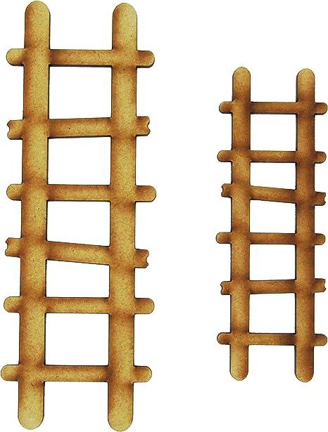 Alchemy - Accesorios para Puerta de Hadas con Grabado de escaleras de Madera para Jardines de Hadas: Amazon.es: Hogar