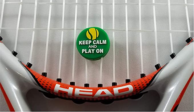 Amazon.com : Tennis Vibration Dampener Keep Calm and Play On! 2 Pack for Tennis Elbow : Sports & Outdoors