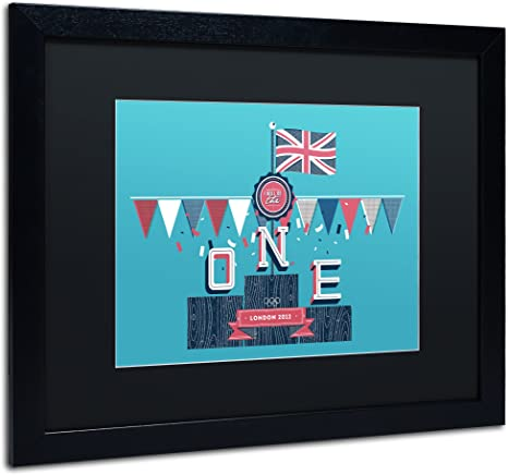 Amazon Com The One In Black Matte And Black Frame Artwork By Kavan Co 11 By 14 Inch Home Kitchen
