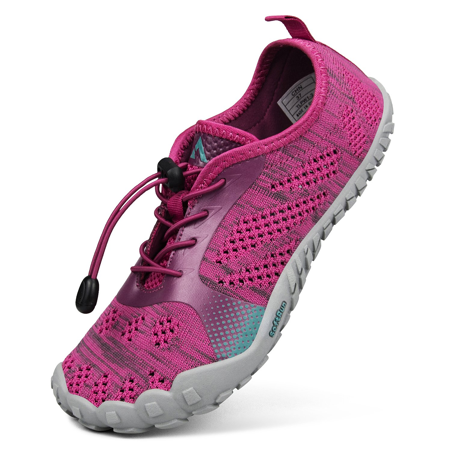 QANSI Women Shoes for Men Barefoot Running Athletics Sports Sneakers for Summer Rose Red Size 8.5