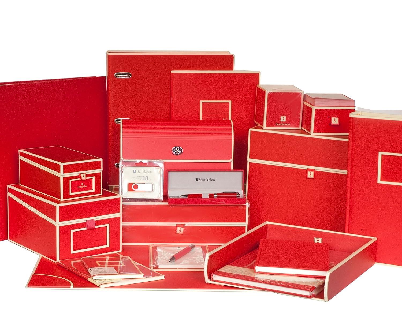 qualit/é Semikolon Sous-Main de congr/ès avec clip rouge + + Fichier avec pince et 3/compartimientos de soufflet