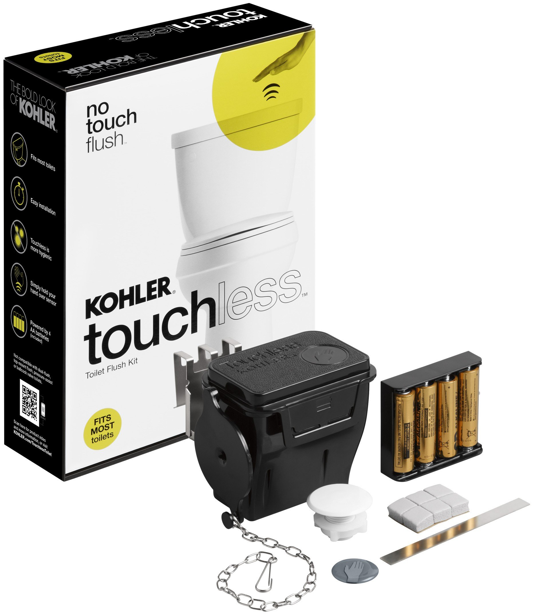 KOHLER K-1954-0  Touchless Toilet Flush Kit by Kohler