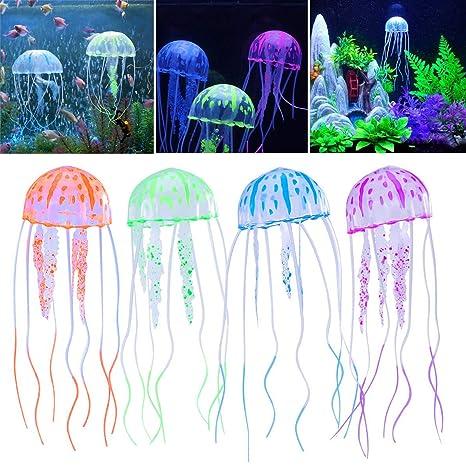 Amazoncom Sunjoyco 4pcs Aquarium Jellyfish Decoration